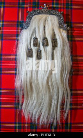 Une robe Kilt Highland Sporran Banque D'Images