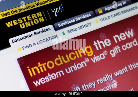 Site de Western Union Banque D'Images