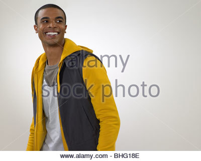 Portrait of a young african american man Banque D'Images