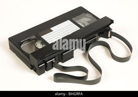 Cassette vidéo VHS traditionnelles Banque D'Images
