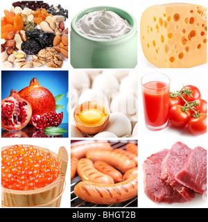 """Collection d'images sur le thème de """"nourriture"""". Banque D'Images"""
