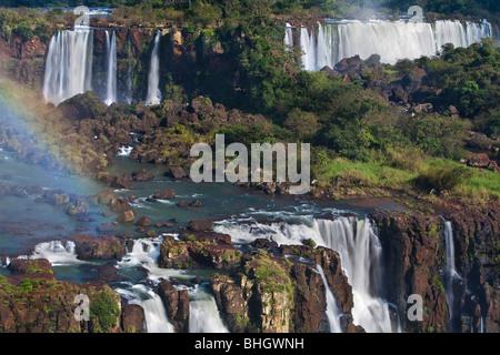 Iguacu Falls, chutes d'Iguaçu, frontière de l'Argentine et la Brésil Banque D'Images