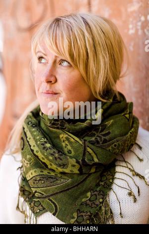 Portrait d'une femme blonde, la Suède. Banque D'Images