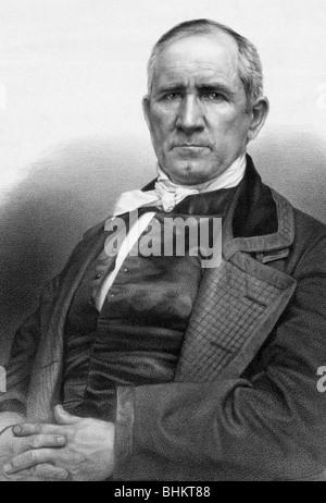 Portrait c1848 de Samuel Houston (1793 - 1863) - un homme d'État américain et de soldat qui a été un personnage Banque D'Images