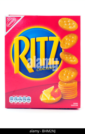 Fort de Nabisco Ritz Crackers isolé sur fond blanc Banque D'Images