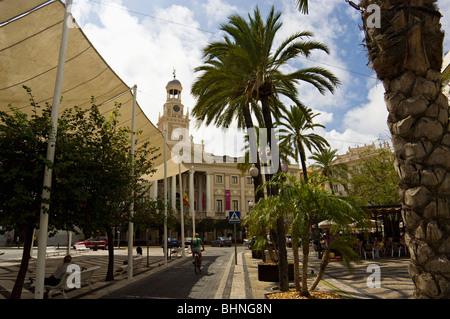 Cadix Ayuntamiento (Mairie), Plaza de San Juan de Dios, Cadix, Andalousie, Espagne