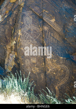 Pétroglyphes à Parowan Gap, Utah, USA
