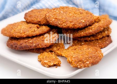 Assiette de biscuits faits maison Banque D'Images