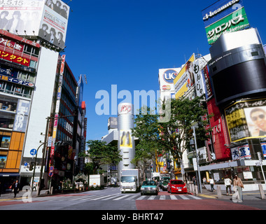 Gare de Shibuya Crossing, Shibuya, Tokyo, Japon Banque D'Images