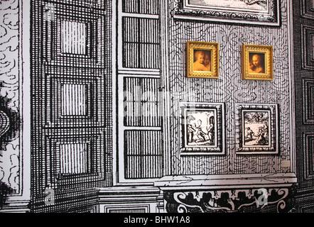 Intérieur du palais Schloss Belvedere Vienne Autriche