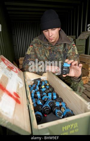 Des explosifs et munitions, Sarajevo, Bosnie et Herzégovine Banque D'Images