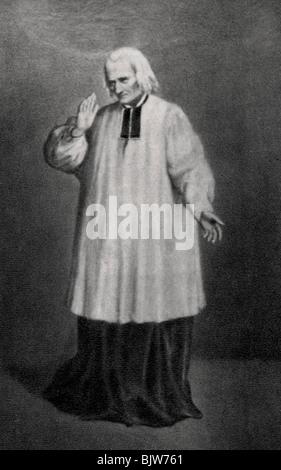 Jean-Marie Vianney, curé d'Ars, prêtre français, 1858. Artiste: Inconnu
