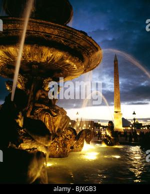 France, Paris, Place de la Concorde Banque D'Images