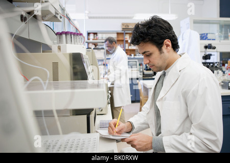 Middle Eastern scientist working in laboratory Banque D'Images