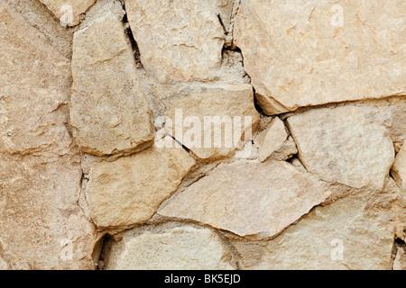 Stone Wall background tourné avec un objectif macro Banque D'Images