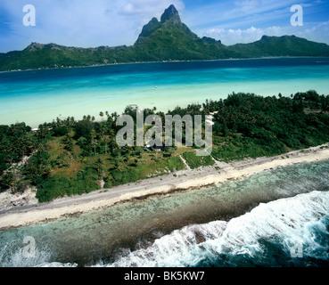 Bora Bora, îles de la société, Polynésie Française, Pacifique Sud, du Pacifique Banque D'Images