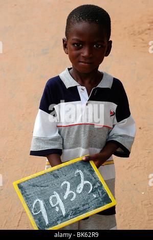 Écolier, Dakar, Sénégal, Afrique de l'Ouest, l'Afrique Banque D'Images