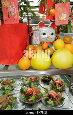 Washington DC Chinatown 6e Street NW Chinatown Restaurant cuisine Express cuisine Chinoise Salade de canard orange Banque D'Images