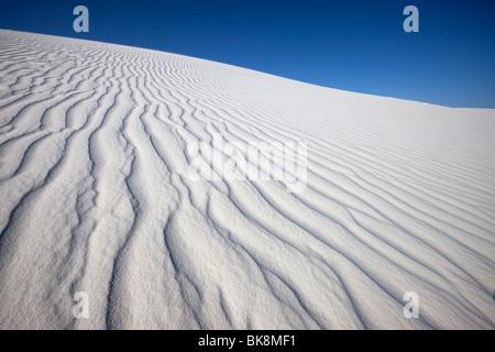 La configuration des vents dans le sable, White Sands National Monument, Nouveau-Mexique Banque D'Images