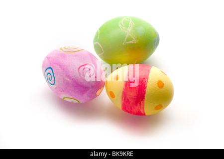 Oeufs de Pâques oeufs colorés