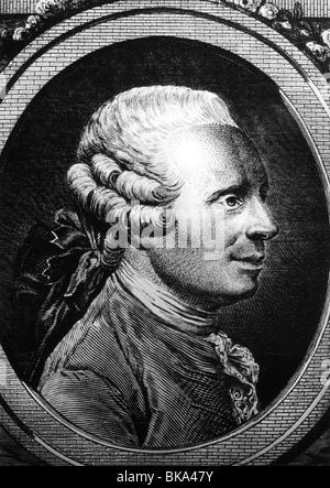Alembert, Jean Le Rond d', 16.11.1717 - 19.10.1783, scientifique français (mathématicien, physicien, scientifique Banque D'Images