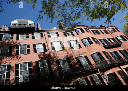 Maisons en rangée, Louisburg Square, Beacon Hill, Boston Massachusetts