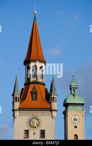Ancien hôtel de ville de Munich, Allemagne Banque D'Images