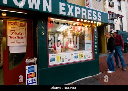 Le restaurant Express Chinatown à Washington DC Banque D'Images