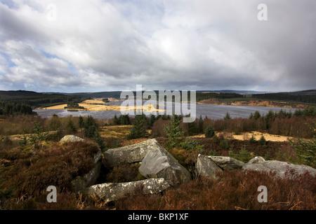 Vers la péninsule de Craig Bull réservoir d'eau de Kielder Vue Kirk Elf Banque D'Images