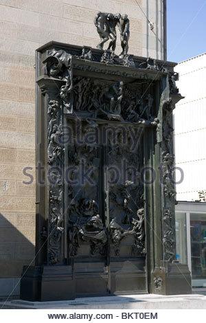 Les portes de l'enfer,sculpture d'Auguste Rodin, 1880-1917,art museum,Kunsthaus Zurich,Suisse, Banque D'Images