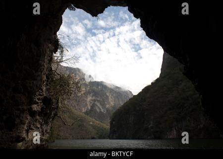 Dans le Canyon du Sumidero Tuxla Gutierrez, Chiapas, Mexique, le 18 février 2010. Banque D'Images