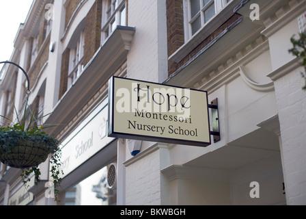 Espérons que l'École Maternelle Montessori, Marylebone Lane, Londres, Royaume-Uni, Europe