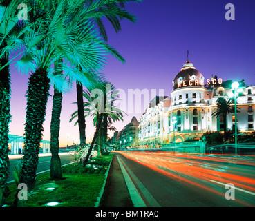 Promenade d'Anglais Nice Alpes Maritimes Cote d'Azur France Banque D'Images