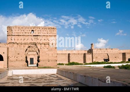 Ruines du palais El Badi, Marrakech (Marrakech), Maroc, Afrique du Nord, Afrique Banque D'Images