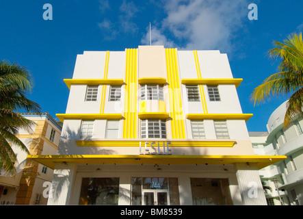 Leslie historique Hôtel sur Ocean Drive, à South Beach à Miami Beach, Floride, USA