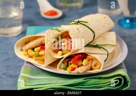 Mexicaine fajitas avec longe. Recette disponible. Banque D'Images