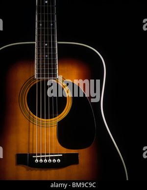 Guitare folk acoustique Banque D'Images