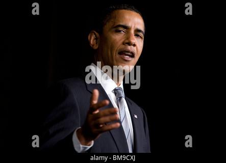 Le président américain Barack Obama. Banque D'Images