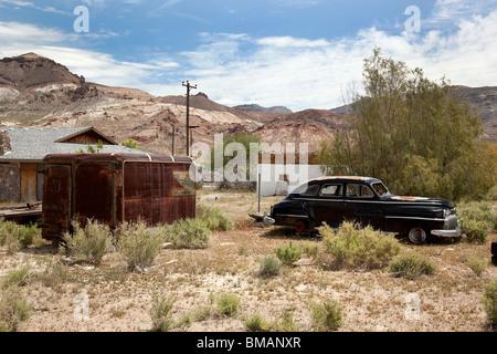 Homestead abandonné dans Beatty NEVADA USA Banque D'Images