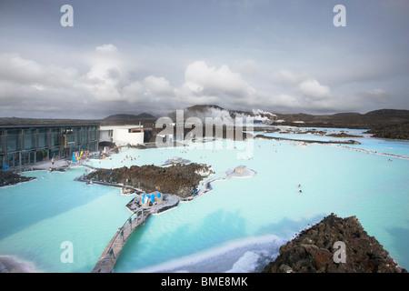 Vue de spa géothermal blue lagoon Banque D'Images