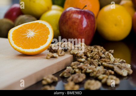 Les noix et les fruits, la Suède. Banque D'Images
