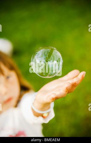 Un soapbubble, la Suède. Banque D'Images