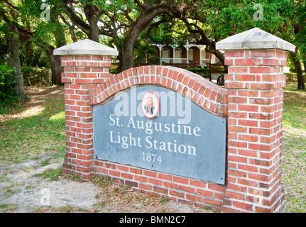 Phare de saint Augustin, Saint Augustine, Floride, USA Banque D'Images