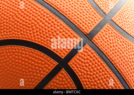 Basket-ball orange gros plan Banque D'Images