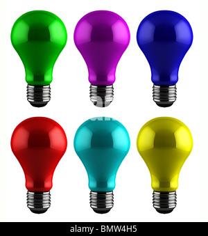 Ampoules colorées Banque D'Images