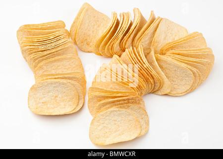 Pile de jetons chips Pringles Banque D'Images