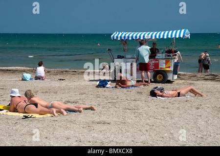 Sur la plage du Lido di Venezia, Venise, Italie Banque D'Images