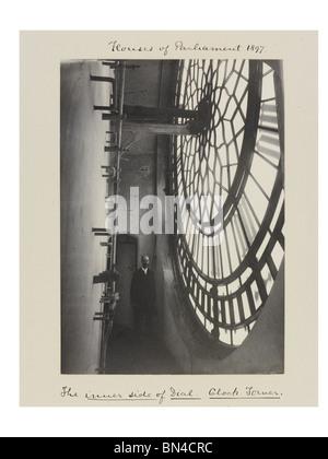 Le côté intérieur du cadran, photo Benjamin Pierre. Londres, Angleterre, 1897 Banque D'Images