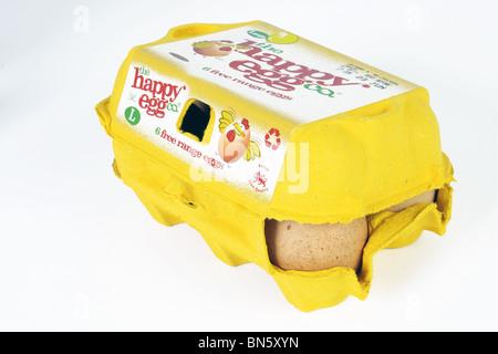 Une photographie du produit de plaisir d''œufs, prises avec l'éclairage de studio sur un fond blanc. Banque D'Images