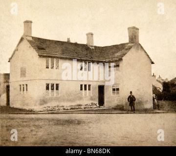 Royaume-uni, Angleterre, Cheshire, Prestbury, The Old School House, 1860 photographie victorienne